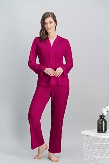 Arnetta Queen Bride Kadın Cuplı Uzun Gecelik, Sabahlık, Gömlek Pijama, Şort Takım Gelin 6'Lı Çeyiz Seti Bordo
